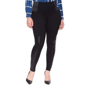 Eloquii Black Quilted Miracle Flawless Leggings